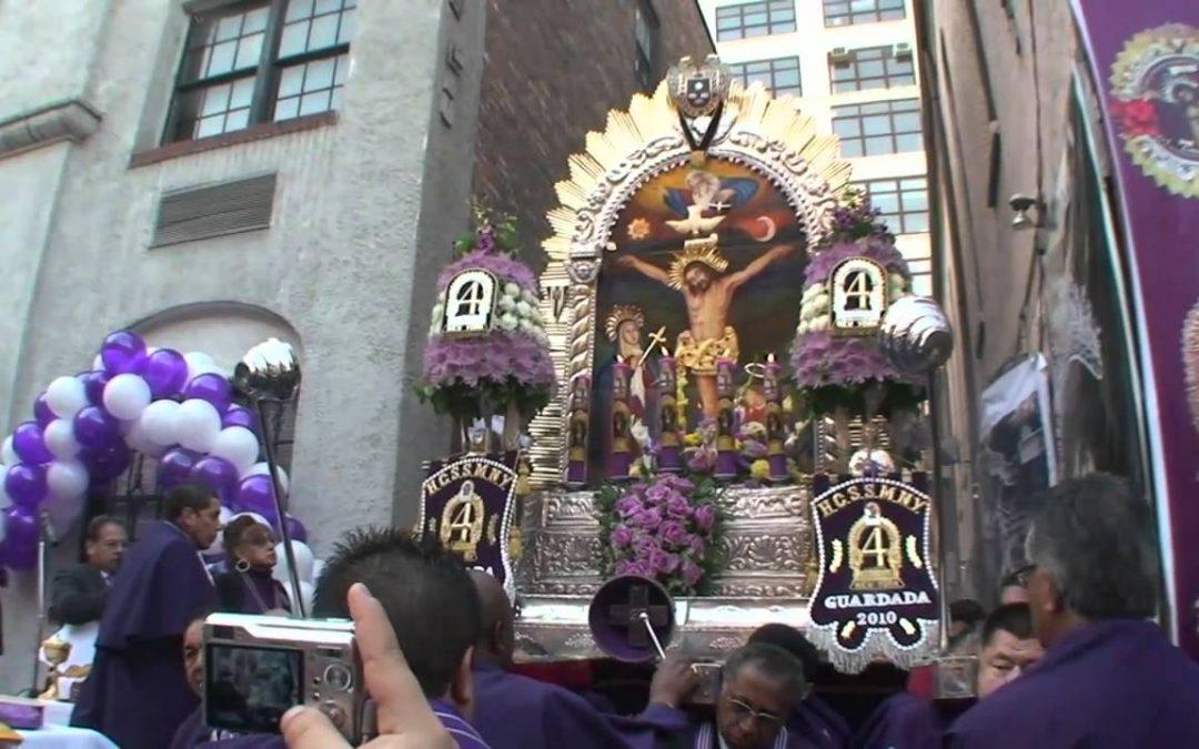 Nueva York: La sagrada imagen del Señor de los Milagros recorre sus calles
