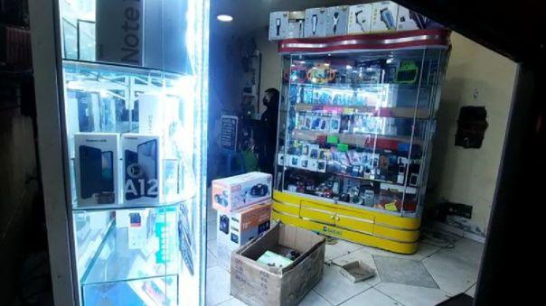 Cercado de Lima: Policías y serenos logran frustrar asalto en tienda de celulares