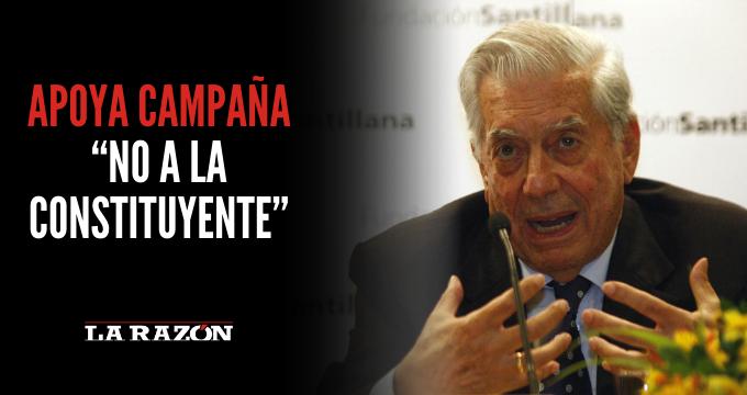 """Vargas Llosa apoya campaña """"No a la constituyente"""""""