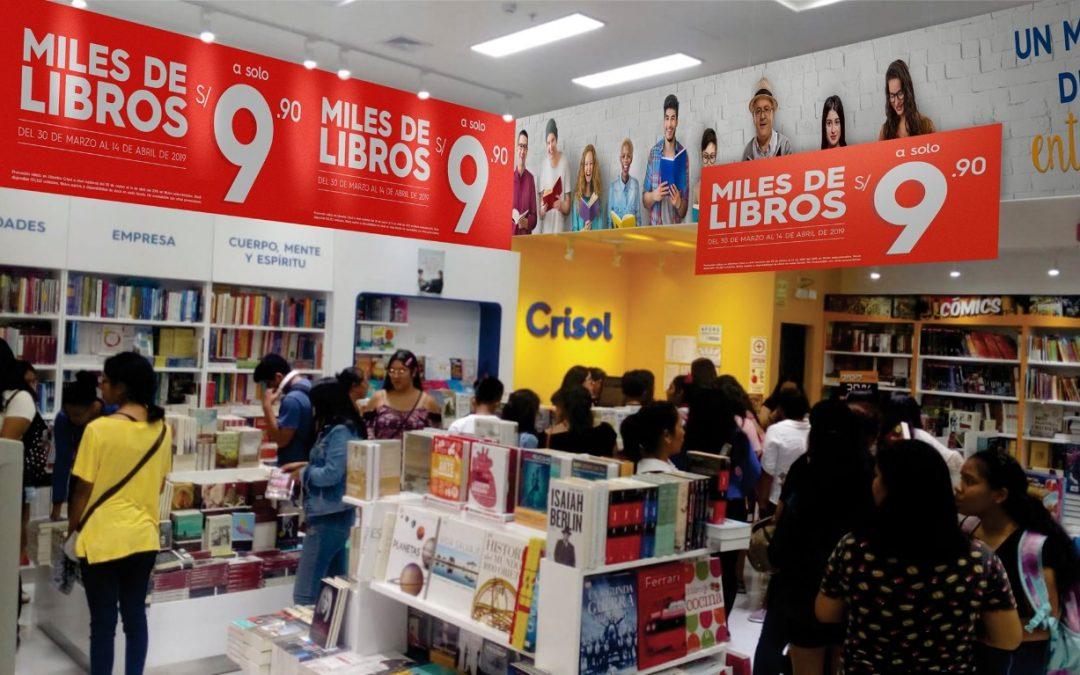 Librerías Crisol fomenta lectura con libros a S/ 9.90