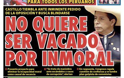 Portada impresa – Diario La Razón (20/10/2021)