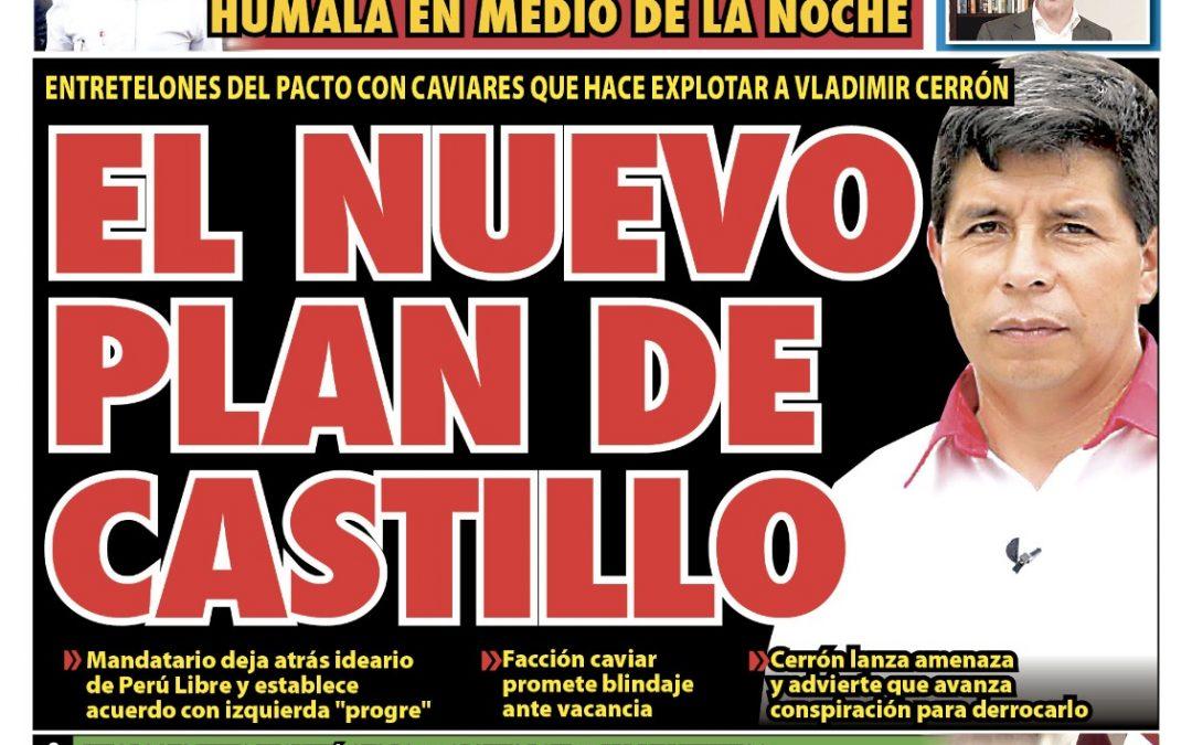 Portada impresa – Diario La Razón (24/10/2021)