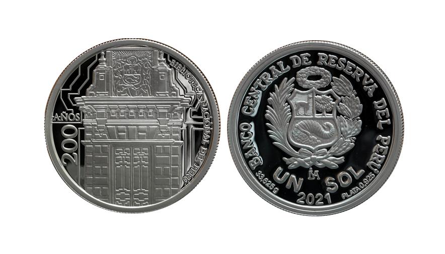 BCR emite nueva moneda por los 200 años de la Biblioteca Nacional del Perú