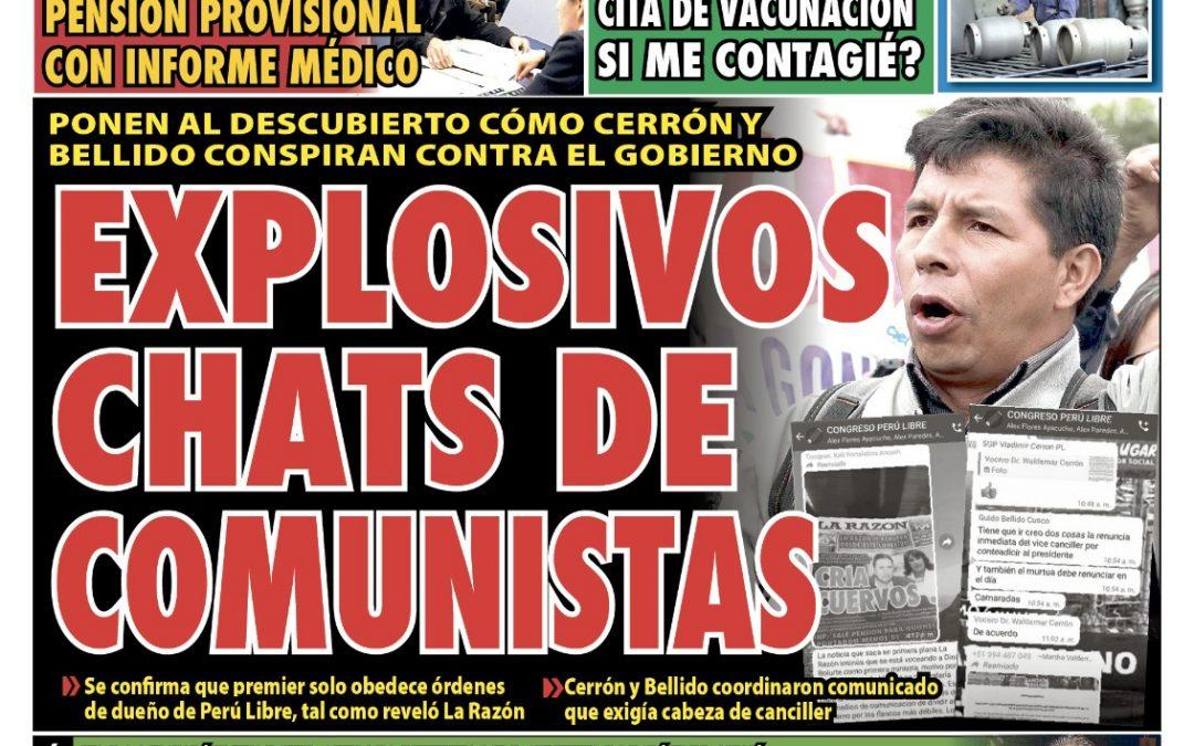 Portada impresa – Diario La Razón (02/10/2021)