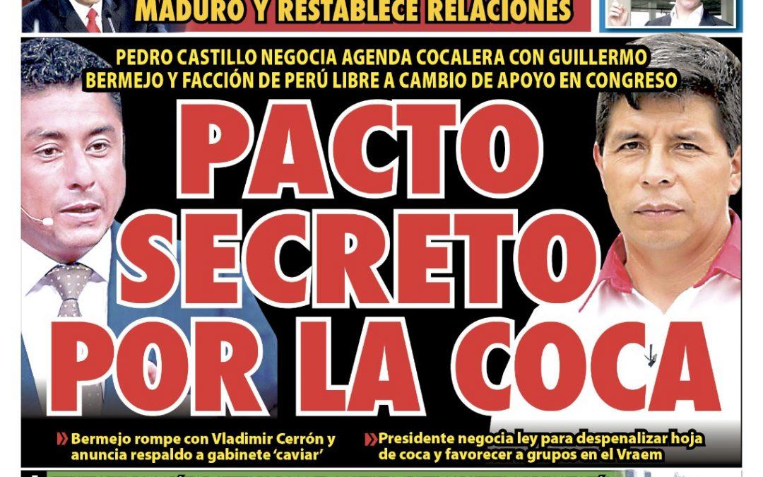 Portada impresa – Diario La Razón (16/10/2021)