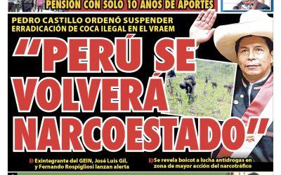 Portada impresa – Diario La Razón (17/10/2021)