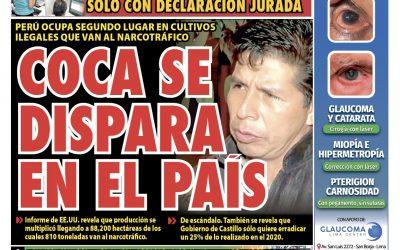 Portada impresa – Diario La Razón (18/10/2021)