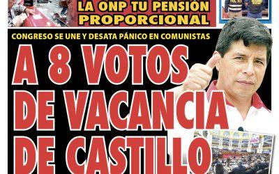 Portada impresa – Diario La Razón (21/10/2021)