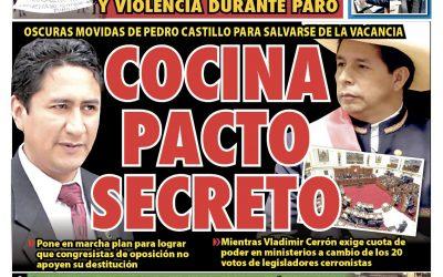 Portada impresa – Diario La Razón (22/10/2021)