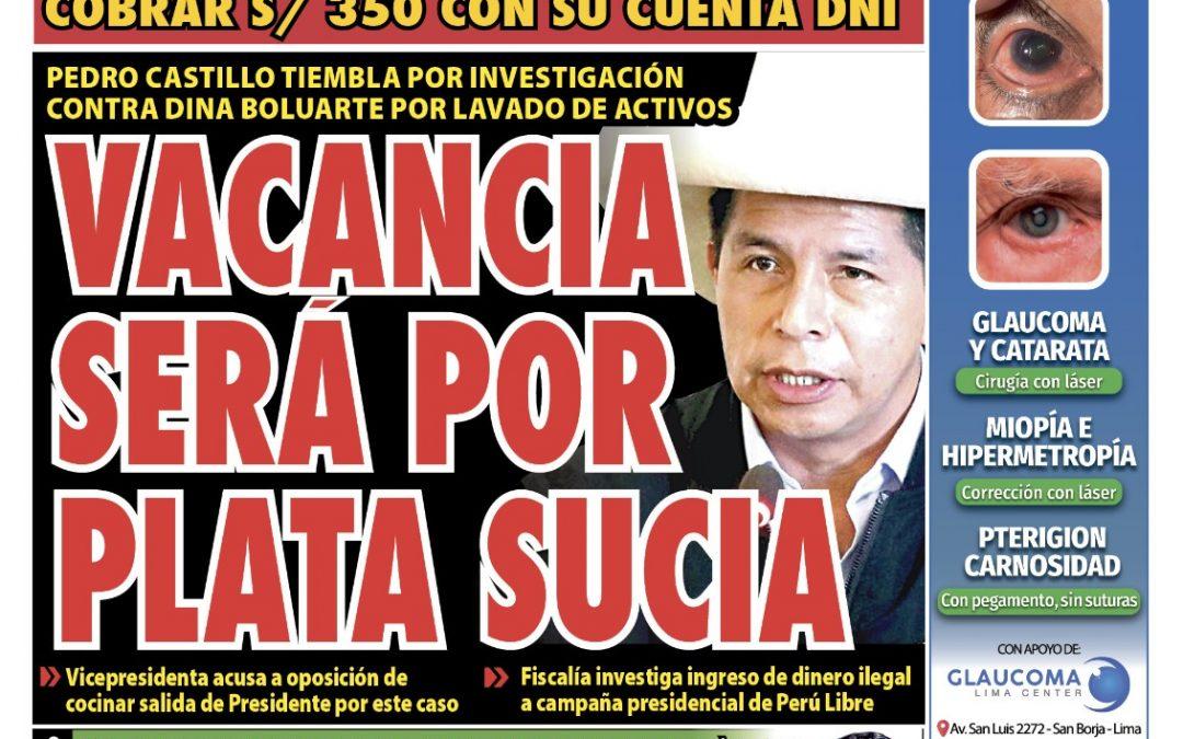 Portada impresa – Diario La Razón (25/10/2021)