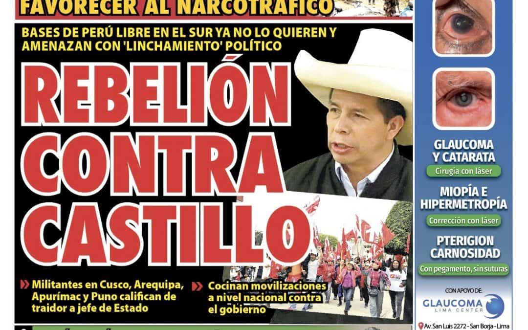 Portada impresa – Diario La Razón (11/10/2021)
