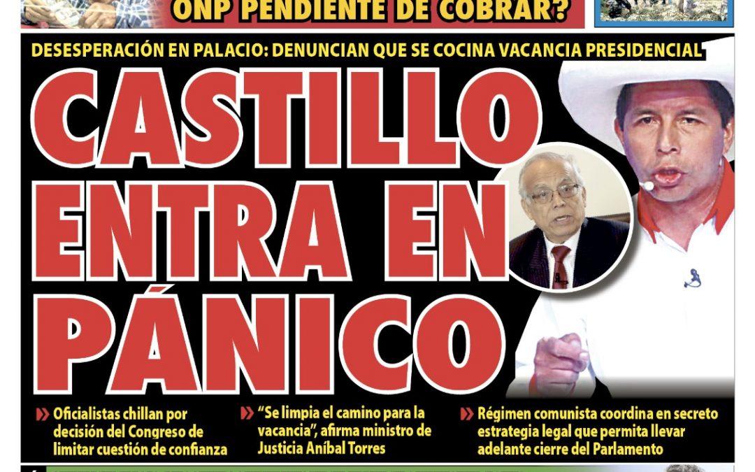 Portada impresa – Diario La Razón (12/10/2021)