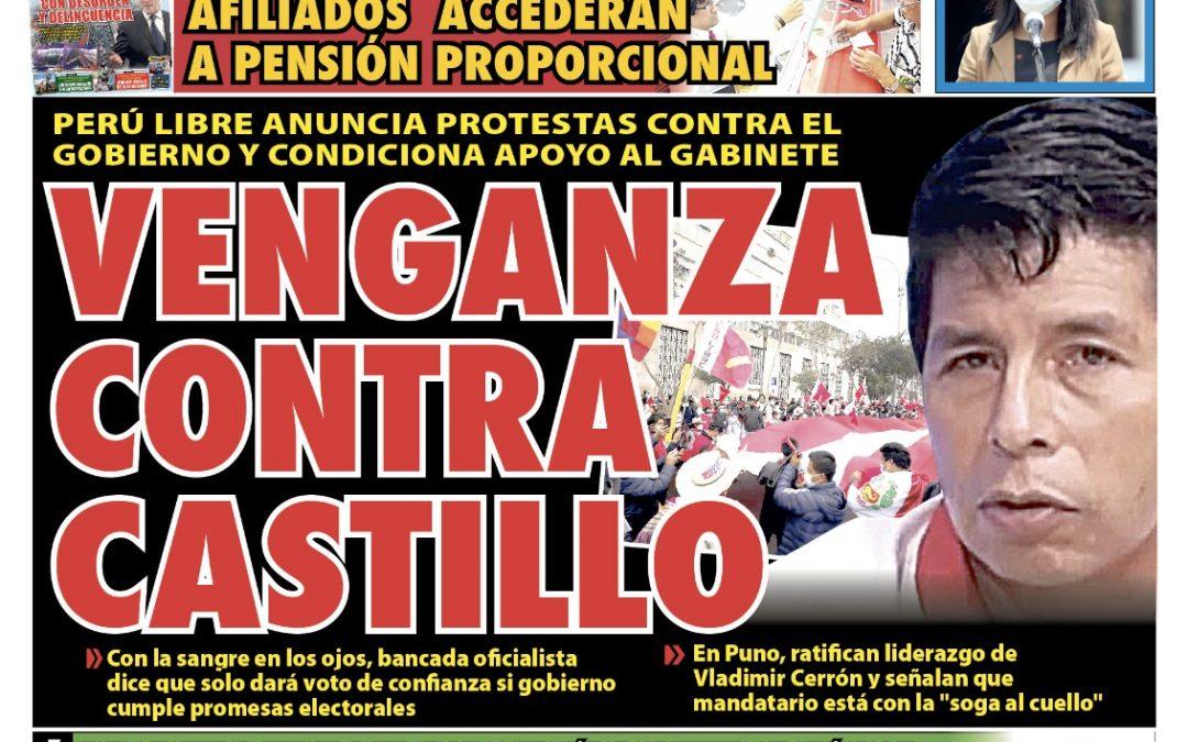 Portada impresa – Diario La Razón (13/10/2021)